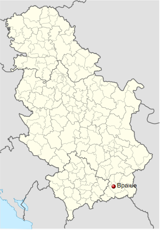 Vranje mapa